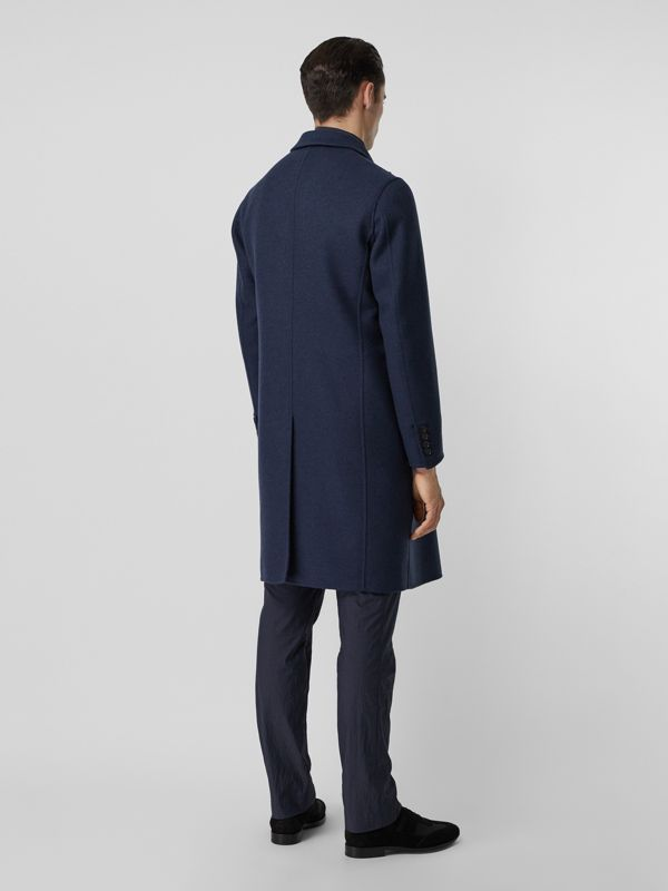 Double-faced Wool Cashmere Tailored Coat in Steel Blue Melange - Men | Burberry - cell image 2