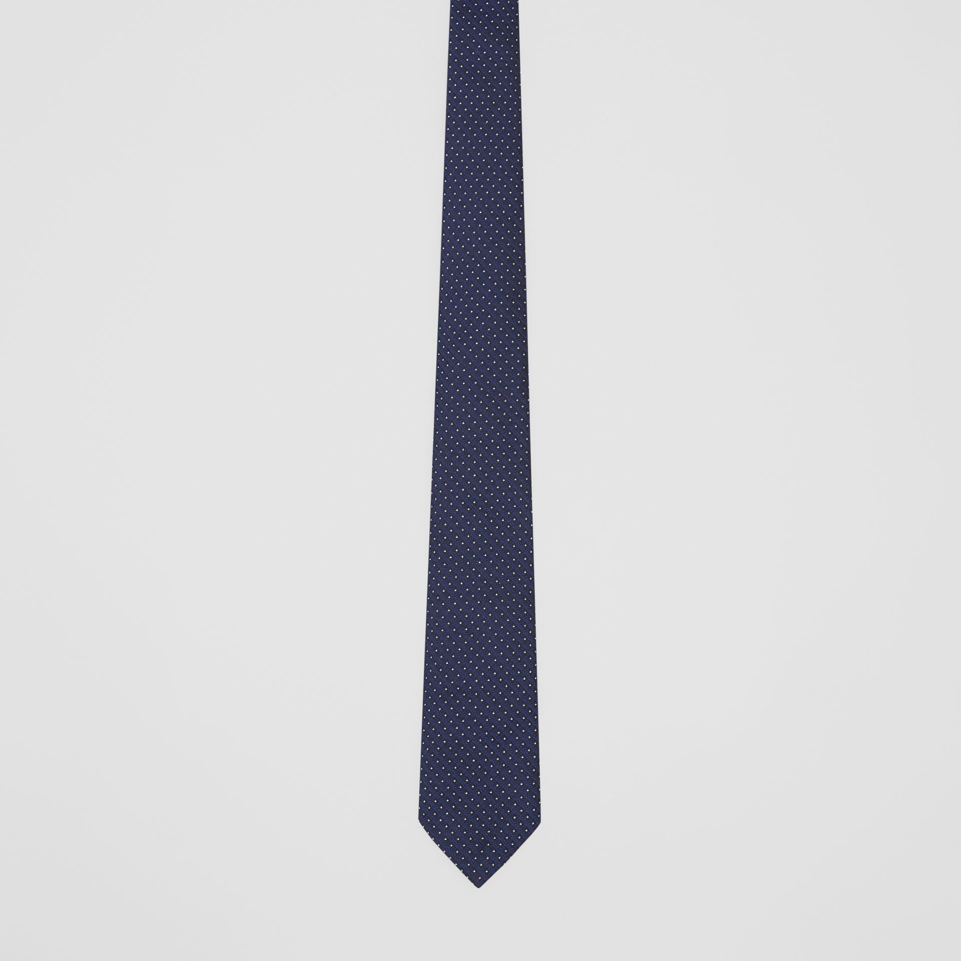 Classic Cut Micro Dot Silk Jacquard Tie in Navy - Men | Burberry - gallery image 3