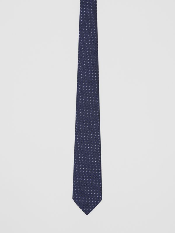 Classic Cut Micro Dot Silk Jacquard Tie in Navy - Men | Burberry - cell image 3