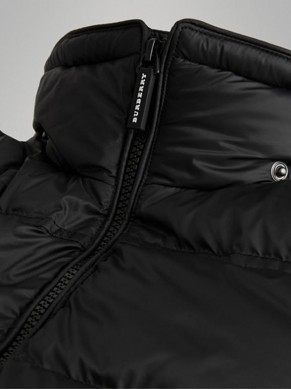 Detachable Hood Down-filled Puffer Coat in Black | Burberry Australia - cell image 1