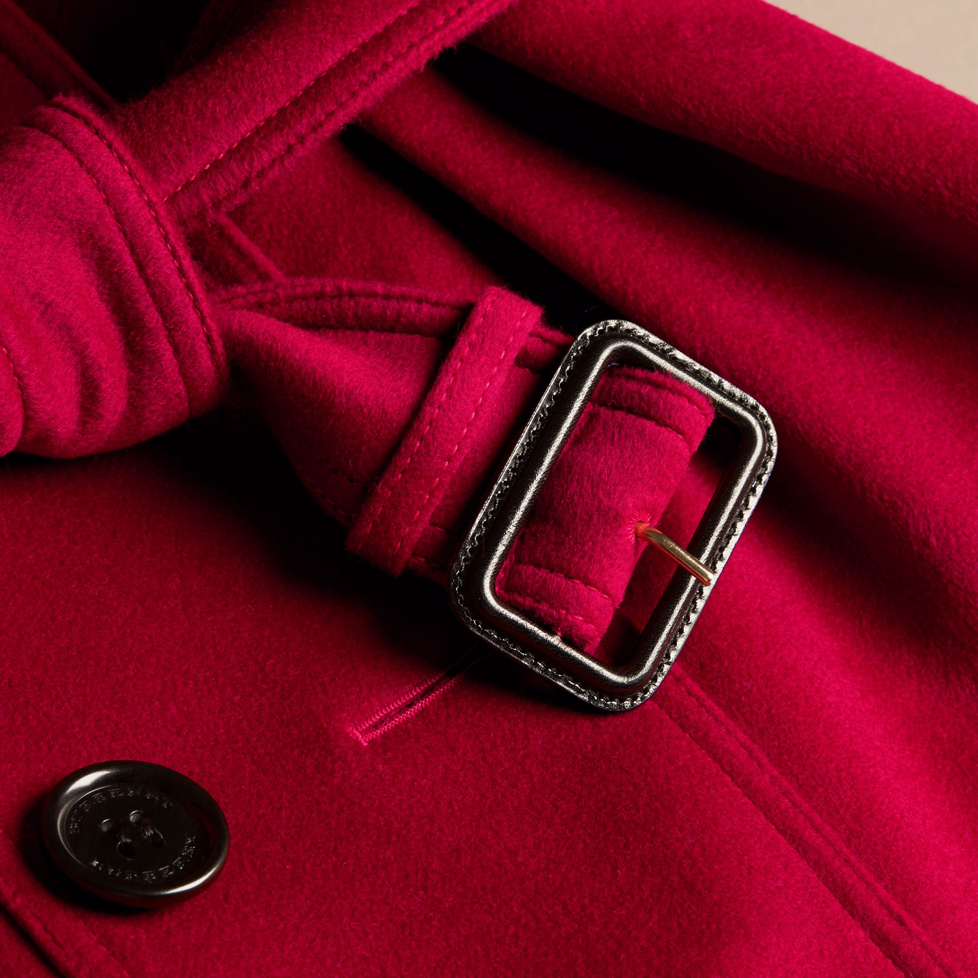 Parade red Wool Cashmere Trench Jacket - gallery image 2