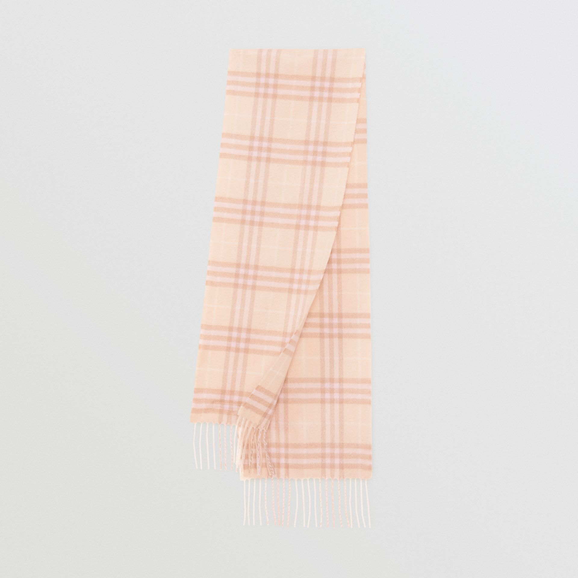 The Mini Classic Vintage Check Cashmere Scarf in Dusty Pink - Children | Burberry - gallery image 0