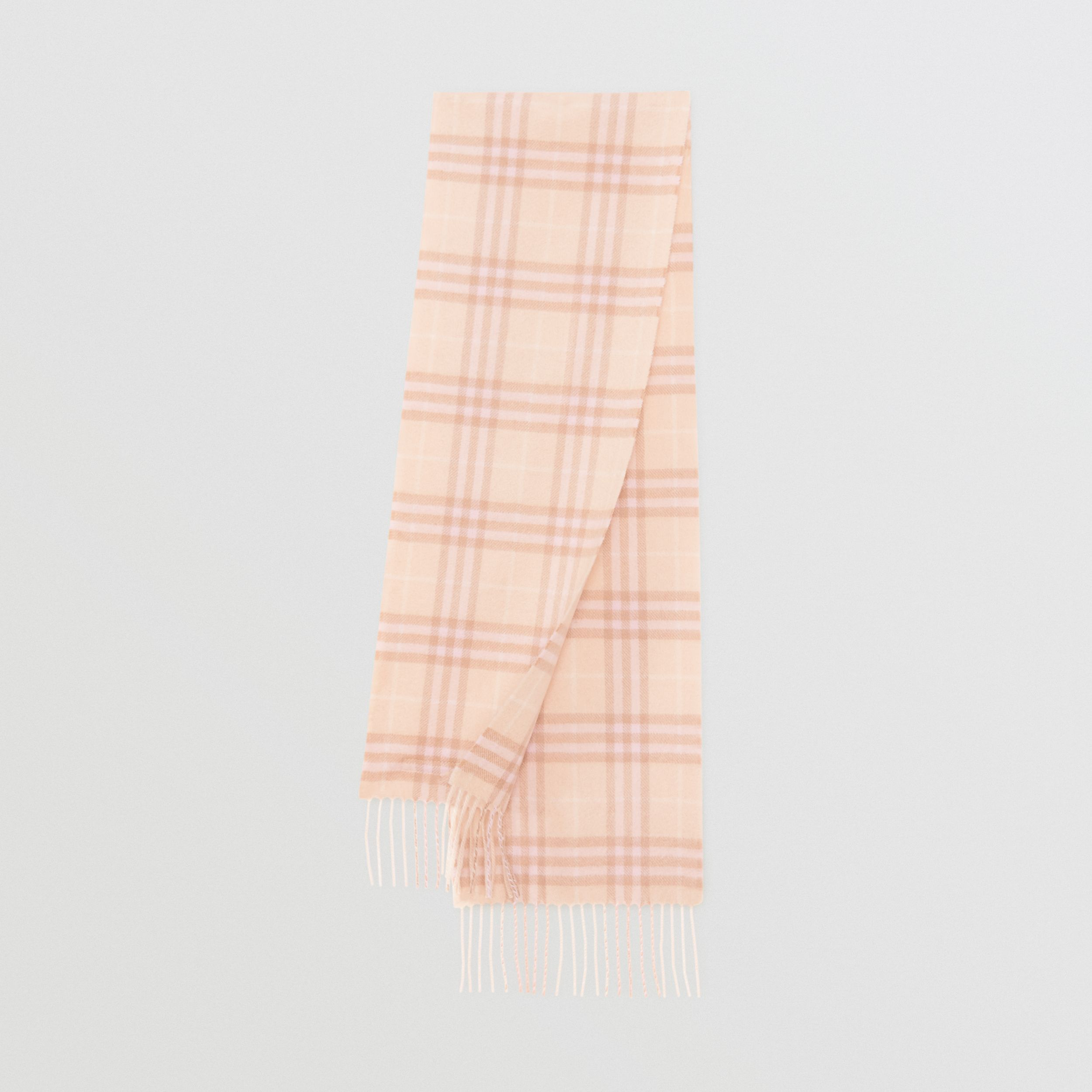 The Mini Classic Vintage Check Cashmere Scarf in Dusty Pink - Children | Burberry - 1