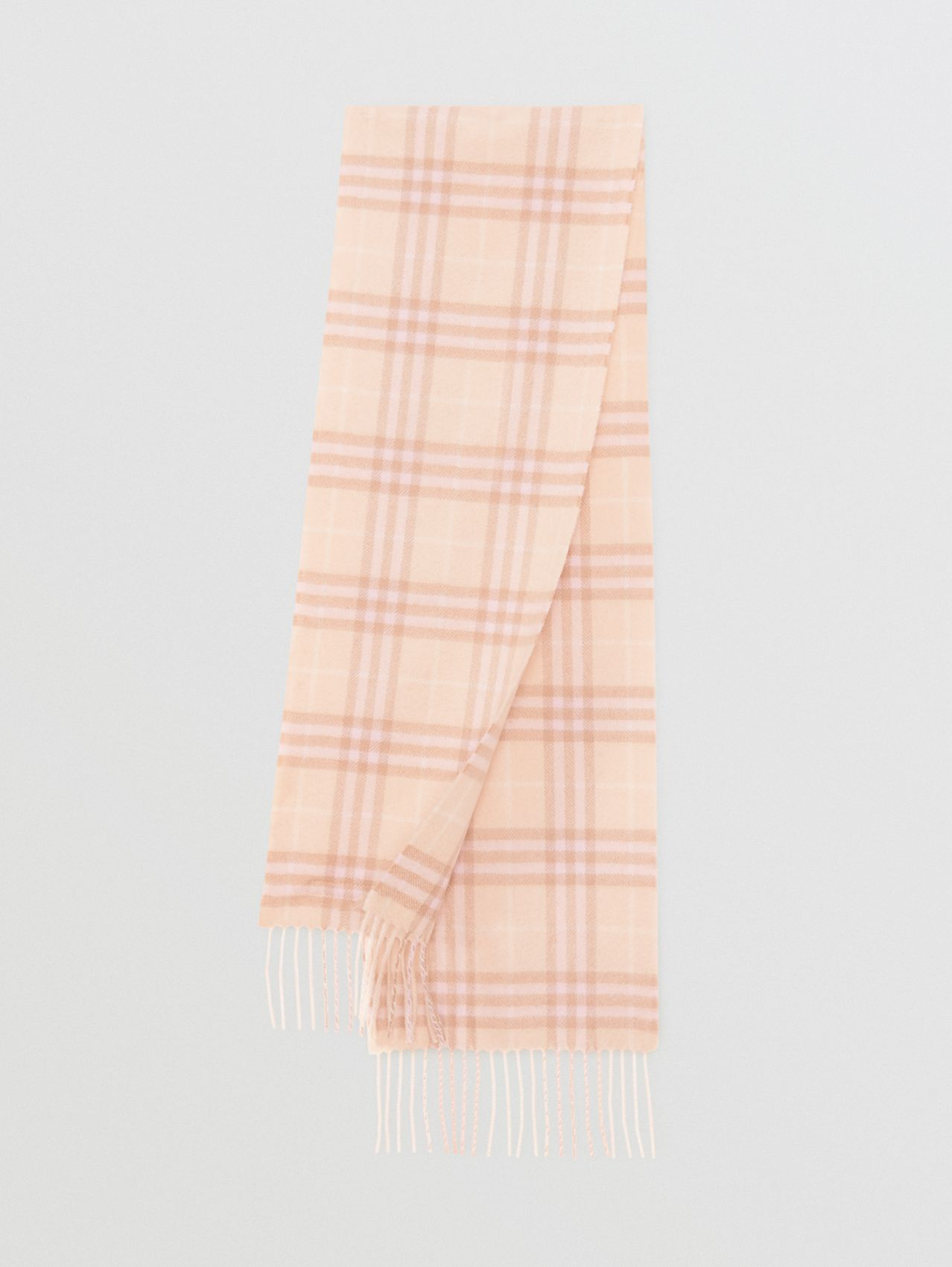 The Mini Classic Vintage Check Cashmere Scarf (Dusty Pink)