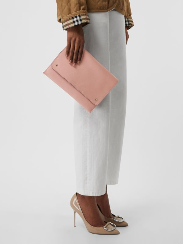 Leather Envelope Crossbody Bag in Ash Rose - Women | Burberry - cell image 3