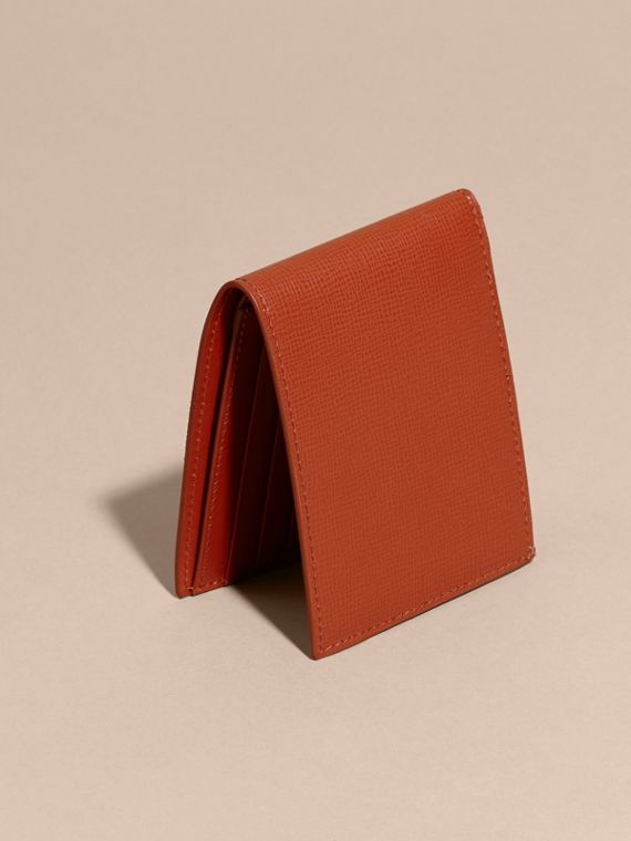 London Leather Slim Folding Wallet Burnt Sienna - cell image 3