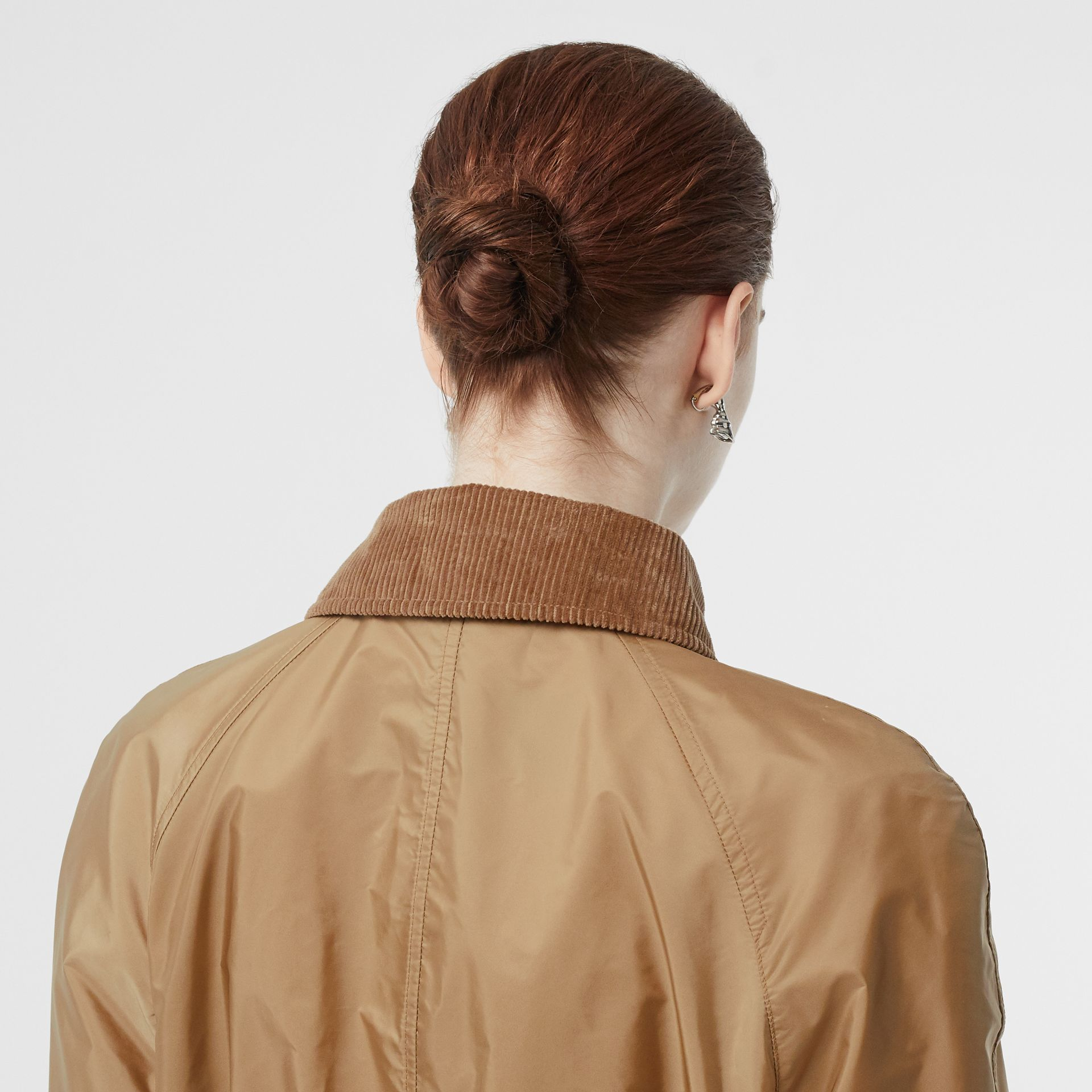 Detachable Hood Taffeta Parka in Honey - Women | Burberry Australia - gallery image 1