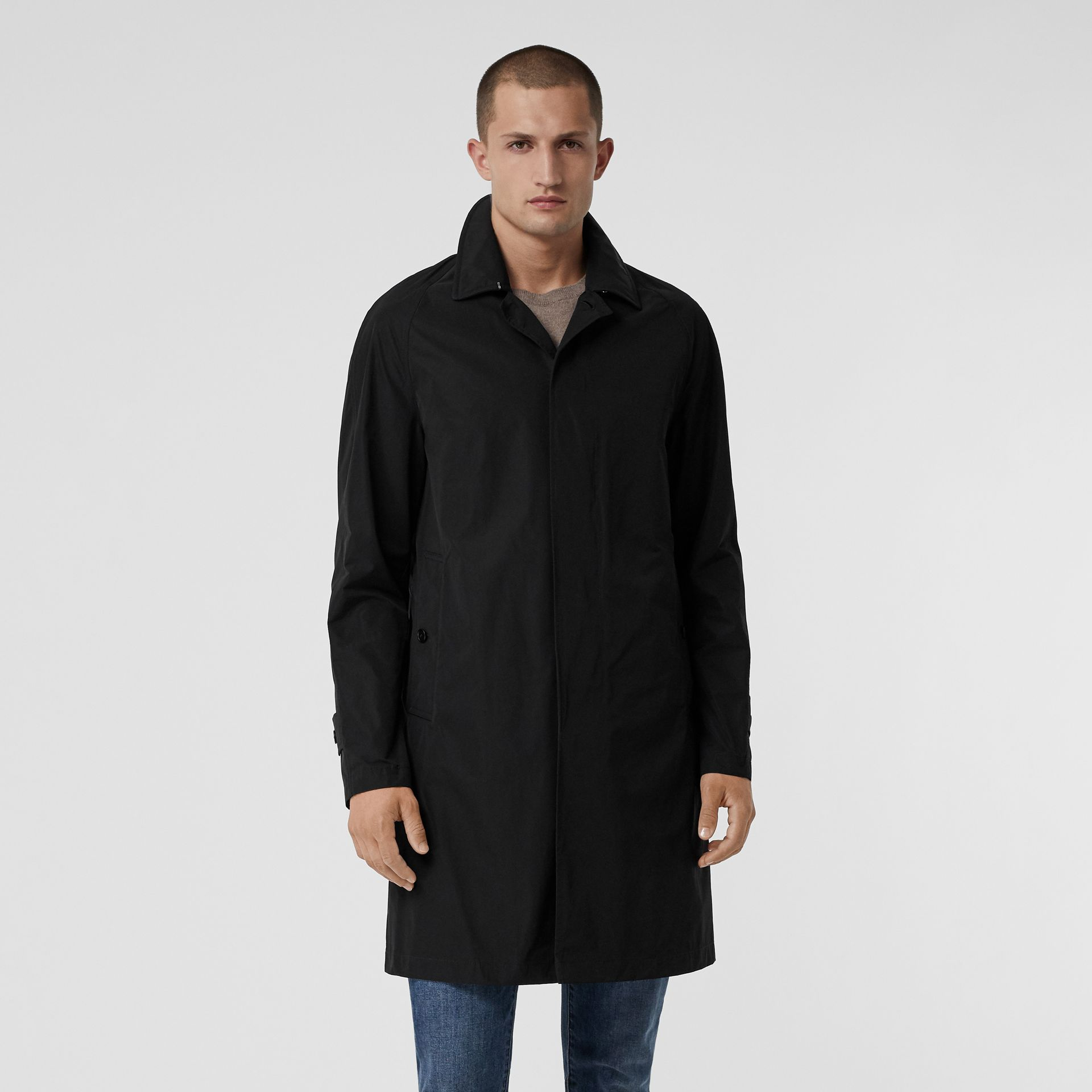 Shape-memory Taffeta Car Coat in Black - Men | Burberry - gallery image 5