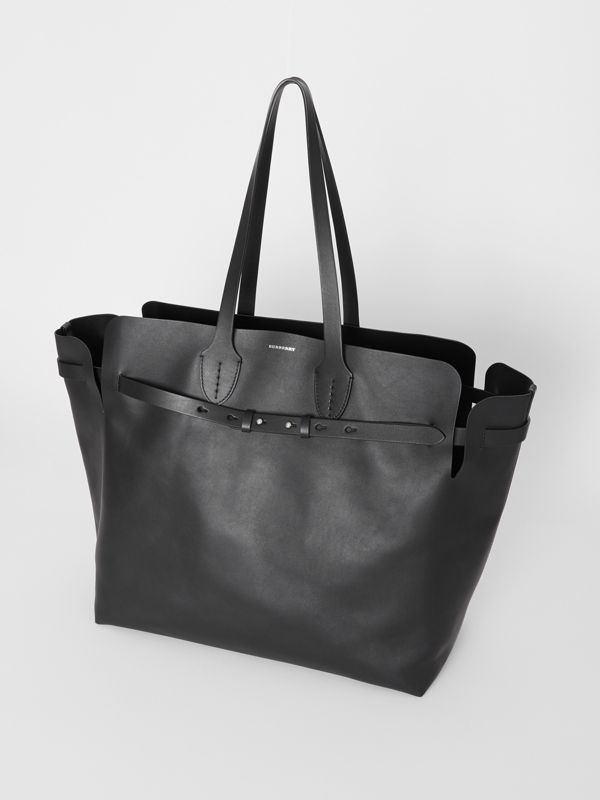 The Large Soft Leather Belt Bag in Black - Women | Burberry United States - cell image 3