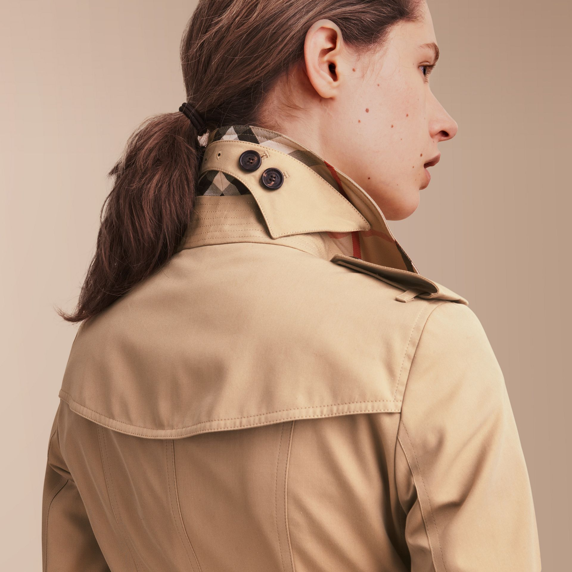 The Sandringham – Mid-Length Heritage Trench Coat in Honey - gallery image 6