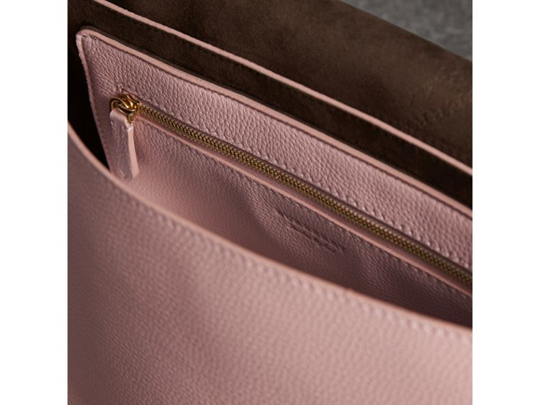 Medium Embossed Leather Messenger Bag in Pale Ash Rose - Women | Burberry - cell image 4