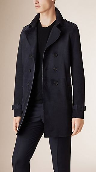 Unlined Suede Trench Coat