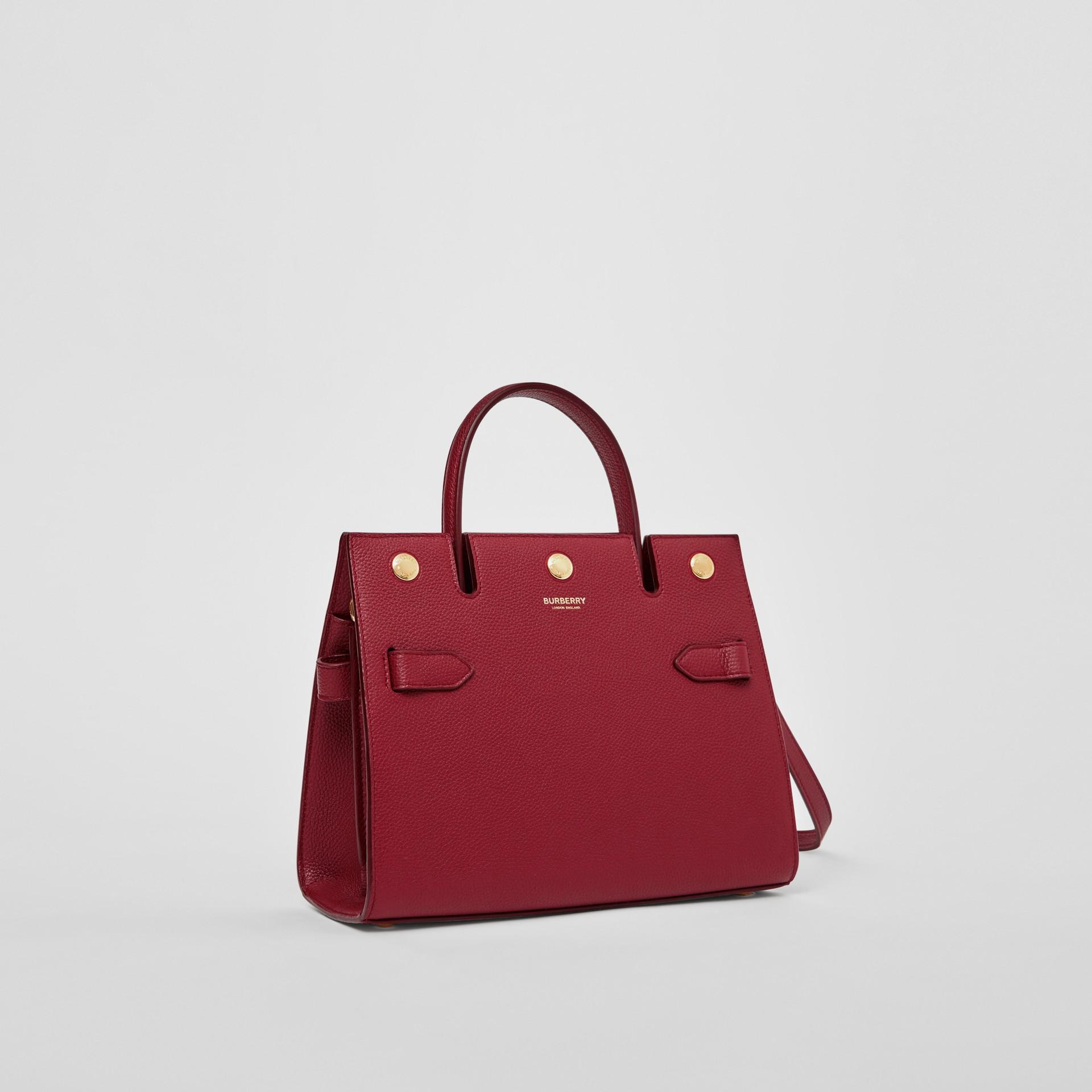 Mini Leather Title Bag in Dark Crimson - Women | Burberry United Kingdom - gallery image 6
