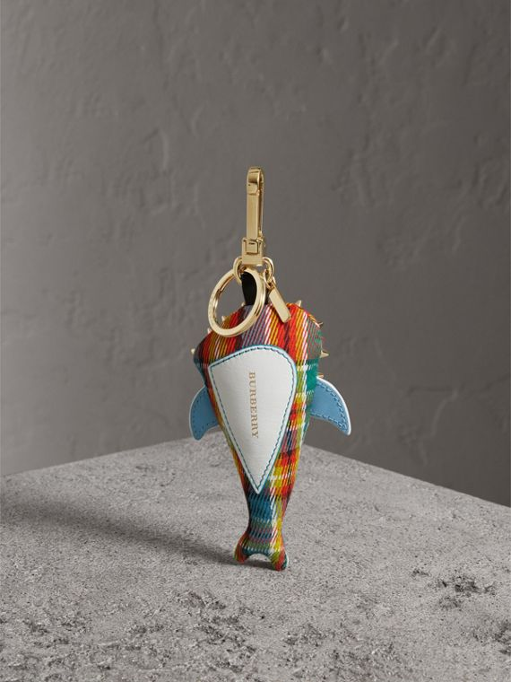 Walter the Shark Cotton Charm in Blue Multicolour | Burberry Hong Kong - cell image 3