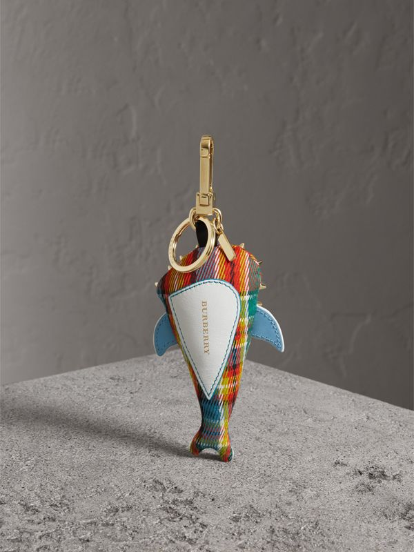 Walter the Shark Cotton Charm in Blue Multicolour | Burberry - cell image 3
