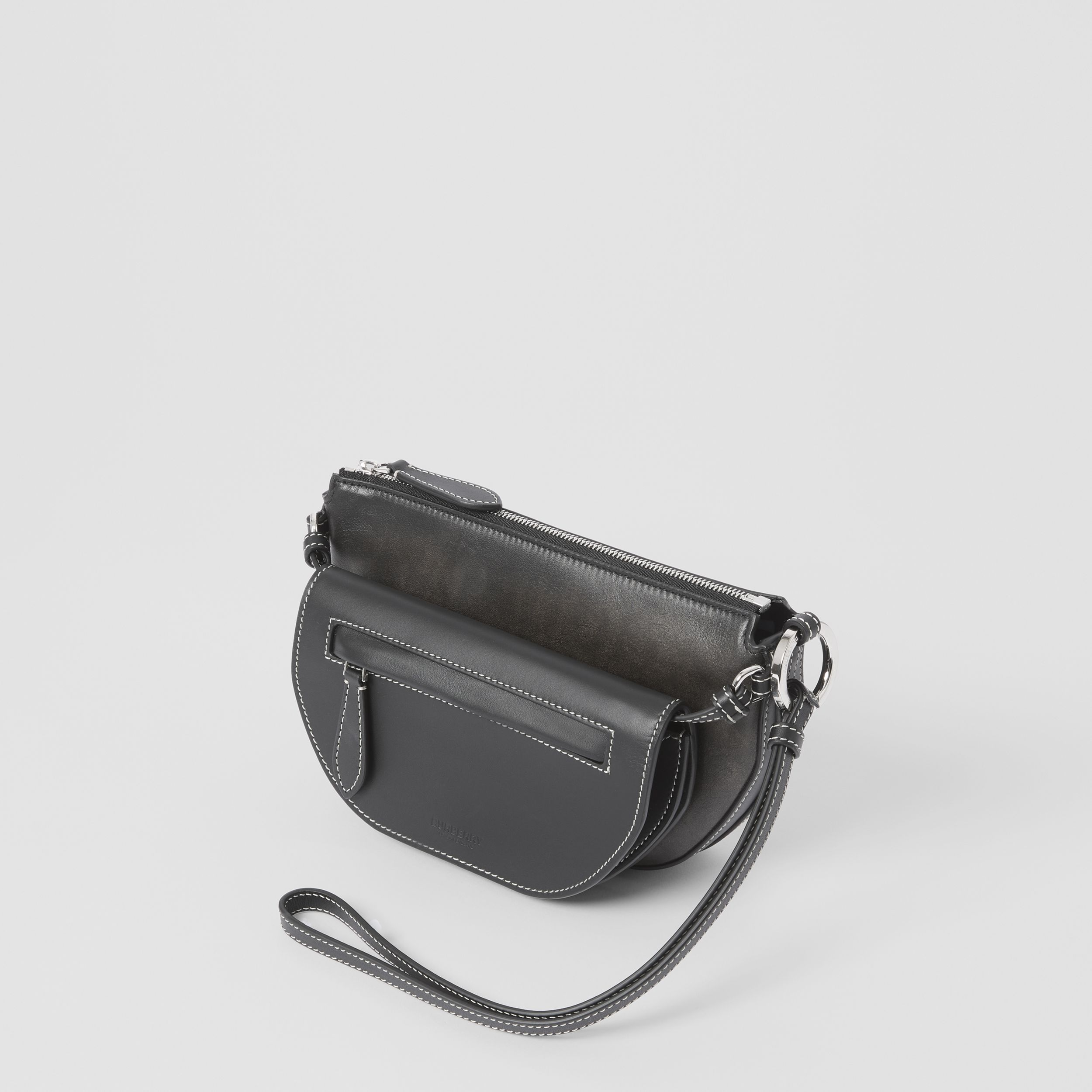 Mini Leather Double Olympia Bag in Black - Women | Burberry United States - 3
