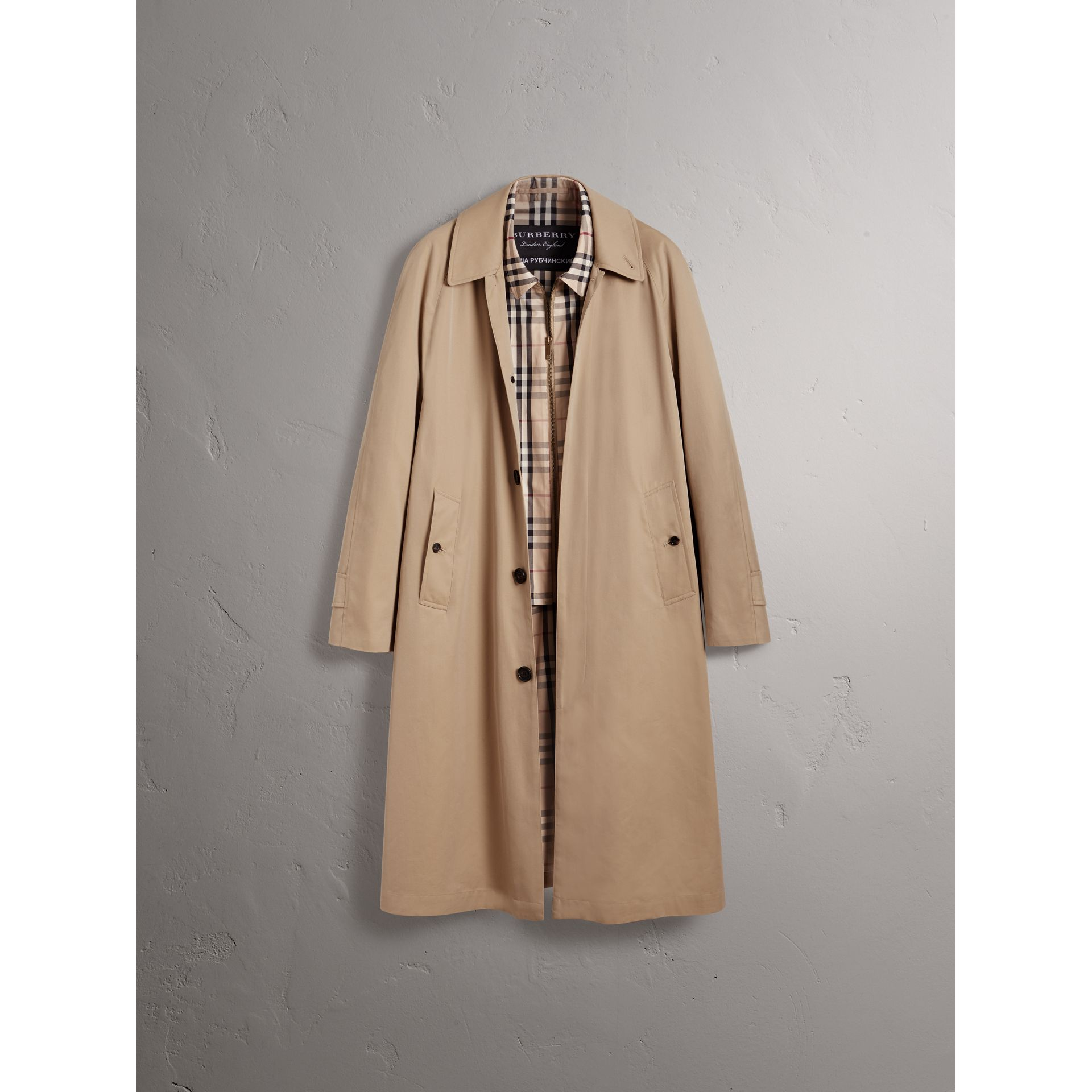 Gosha x Burberry Reconstructed Car Coat in Honey | Burberry Australia - gallery image 4