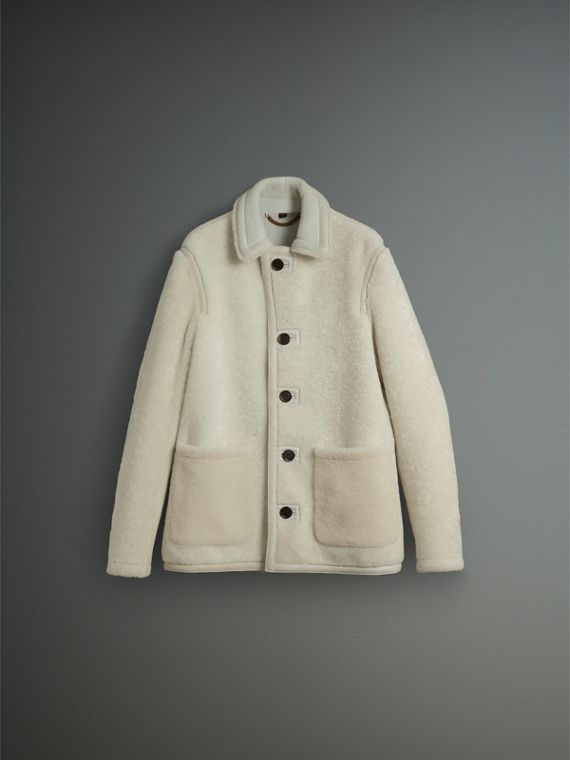 Shearling Jacket in White - Men | Burberry - cell image 3