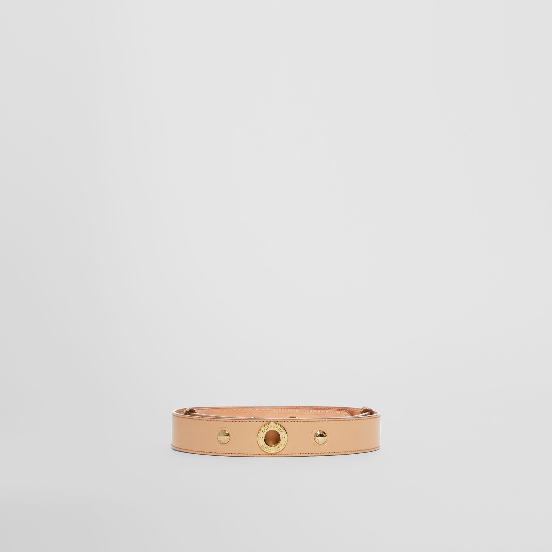 Triple Stud Leather Belt in Honey - Women | Burberry Hong Kong - gallery image 3