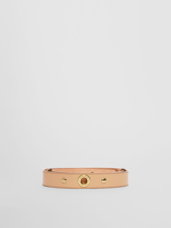 Triple Stud Leather Belt in Honey - Women | Burberry - cell image 3