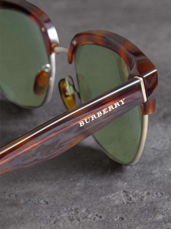 D-frame Sunglasses in Tortoise Shell - Men | Burberry - cell image 1