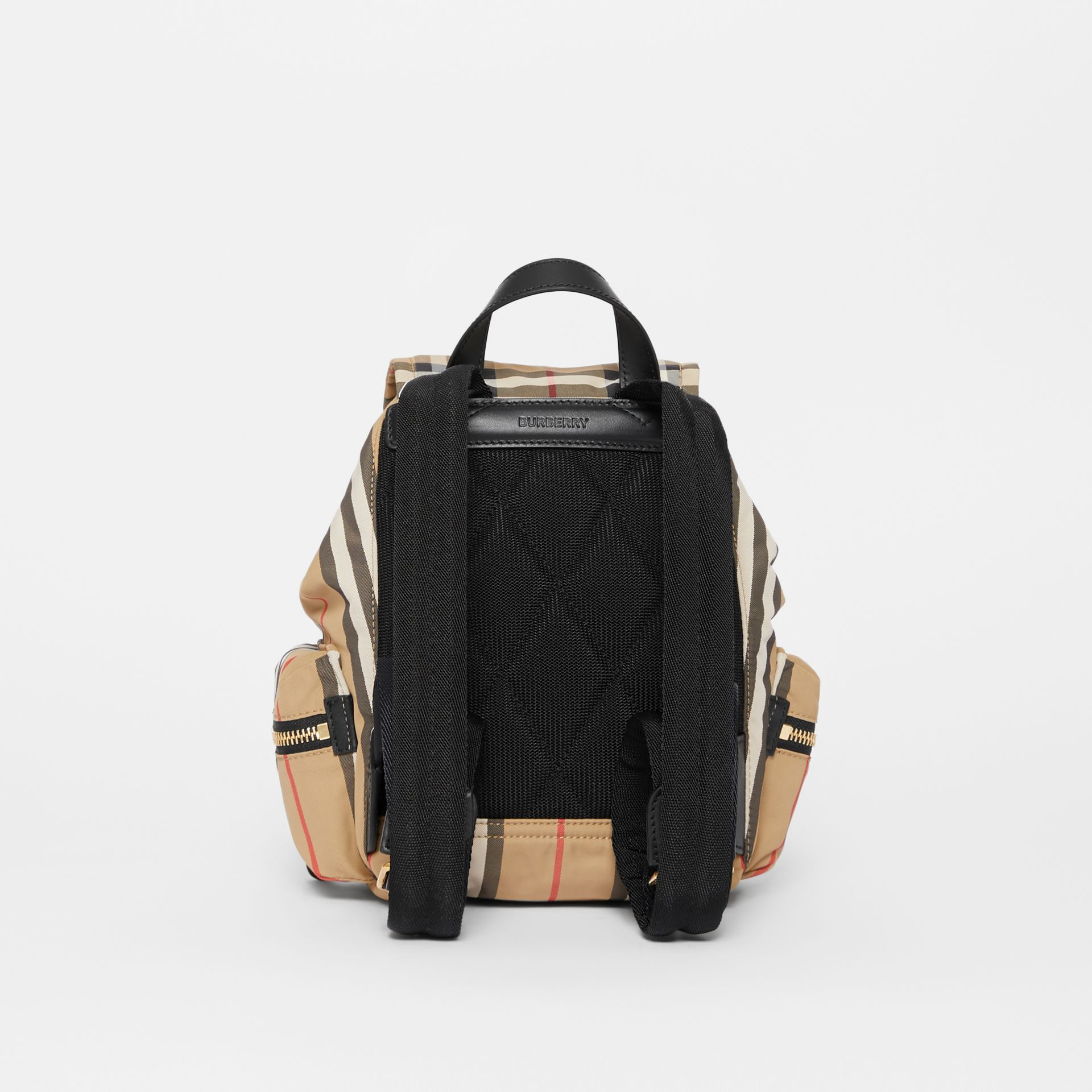 The Small Rucksack in Vintage Check and Icon Stripe in Archive Beige - Women | Burberry Australia - gallery image 7