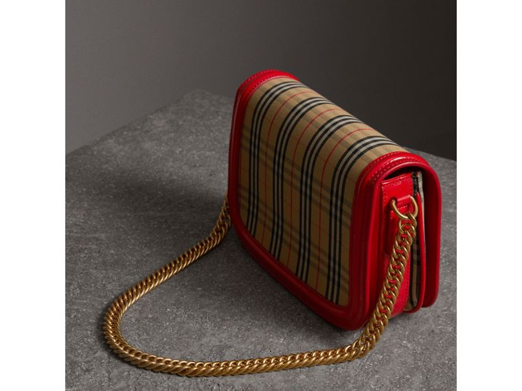 The 1983 Check Link Bag with Patent Trim in Bright Red - Women | Burberry United States - cell image 4