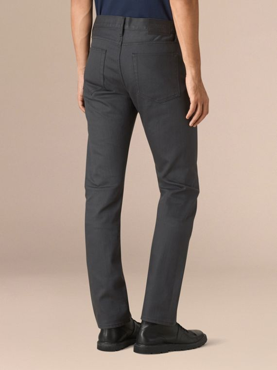 Storm grey Straight Fit Japanese Selvedge Denim Jeans - cell image 2