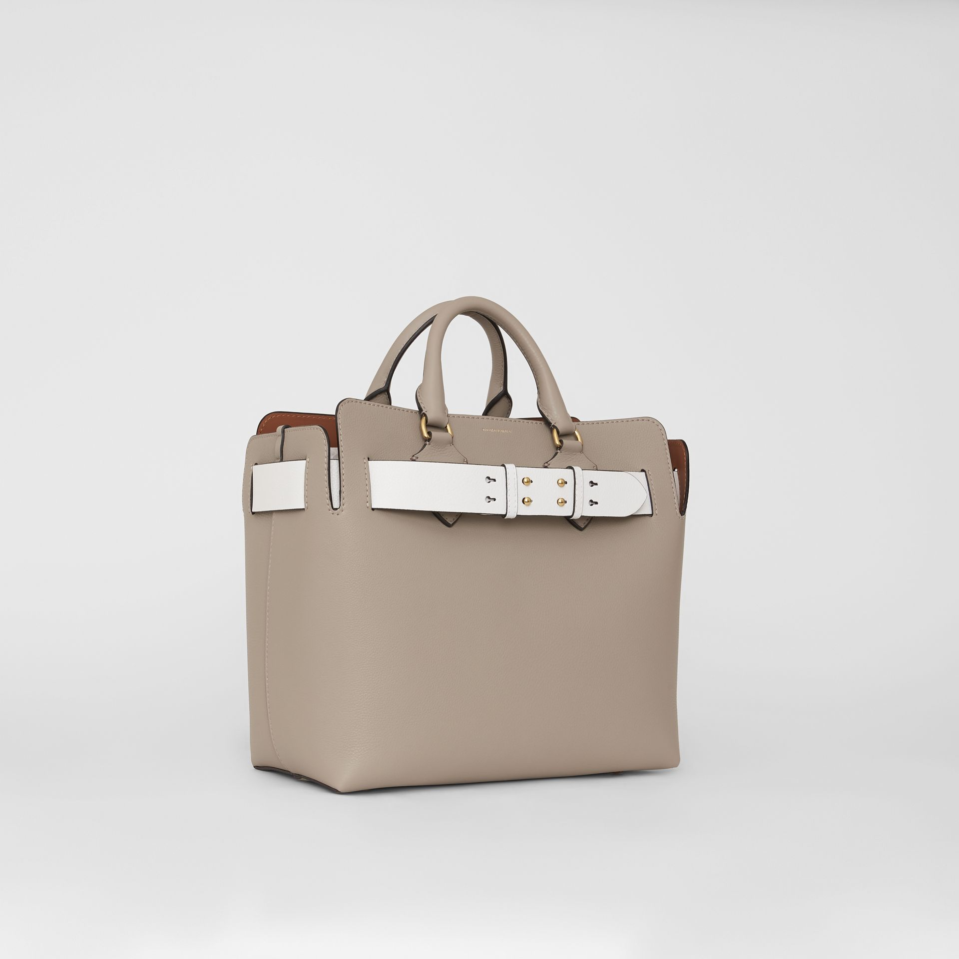 The Medium Leather Belt Bag in Mineral Grey - Women | Burberry - gallery image 5