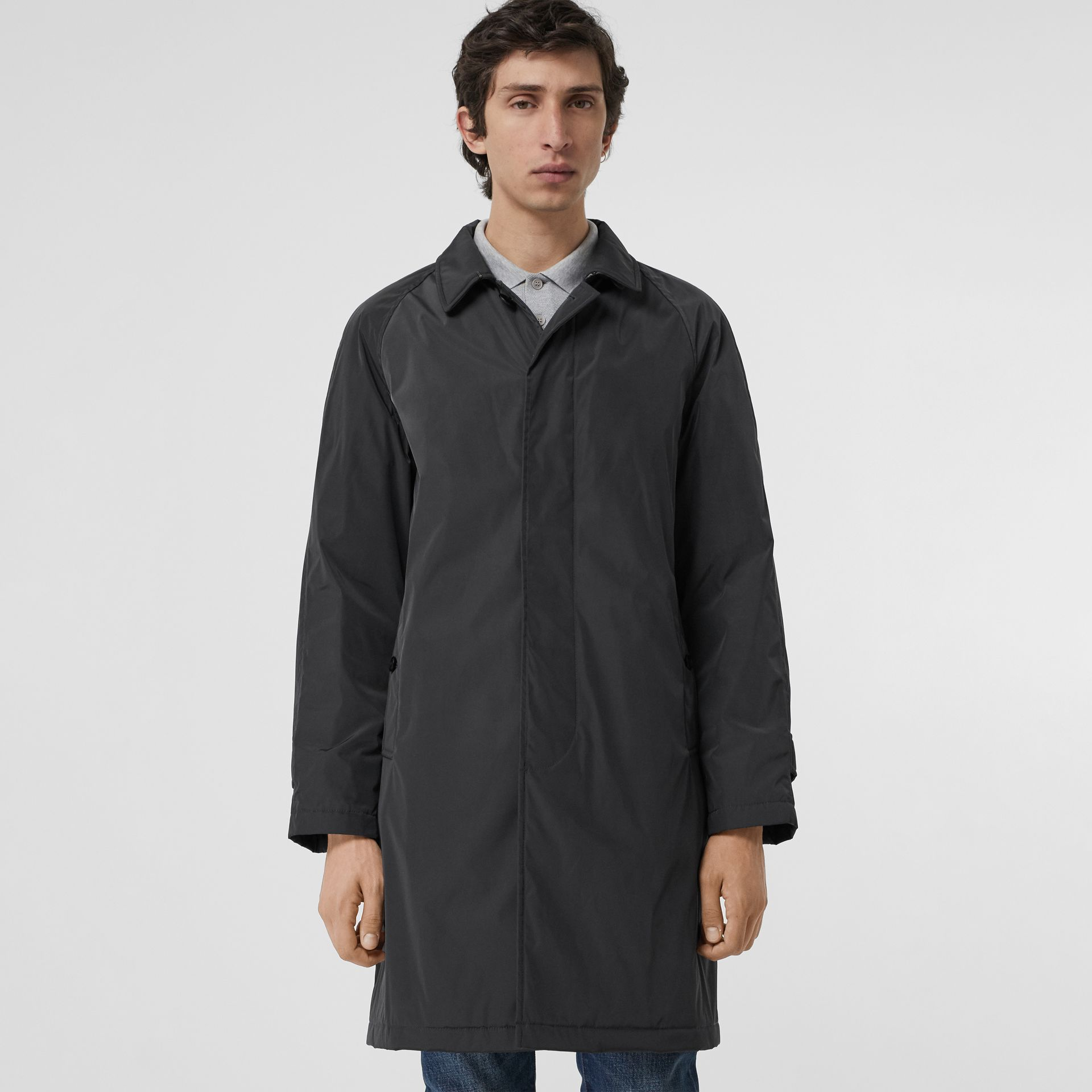 Quilt-lined Nylon Car Coat in Dark Charcoal - Men | Burberry Singapore - gallery image 5