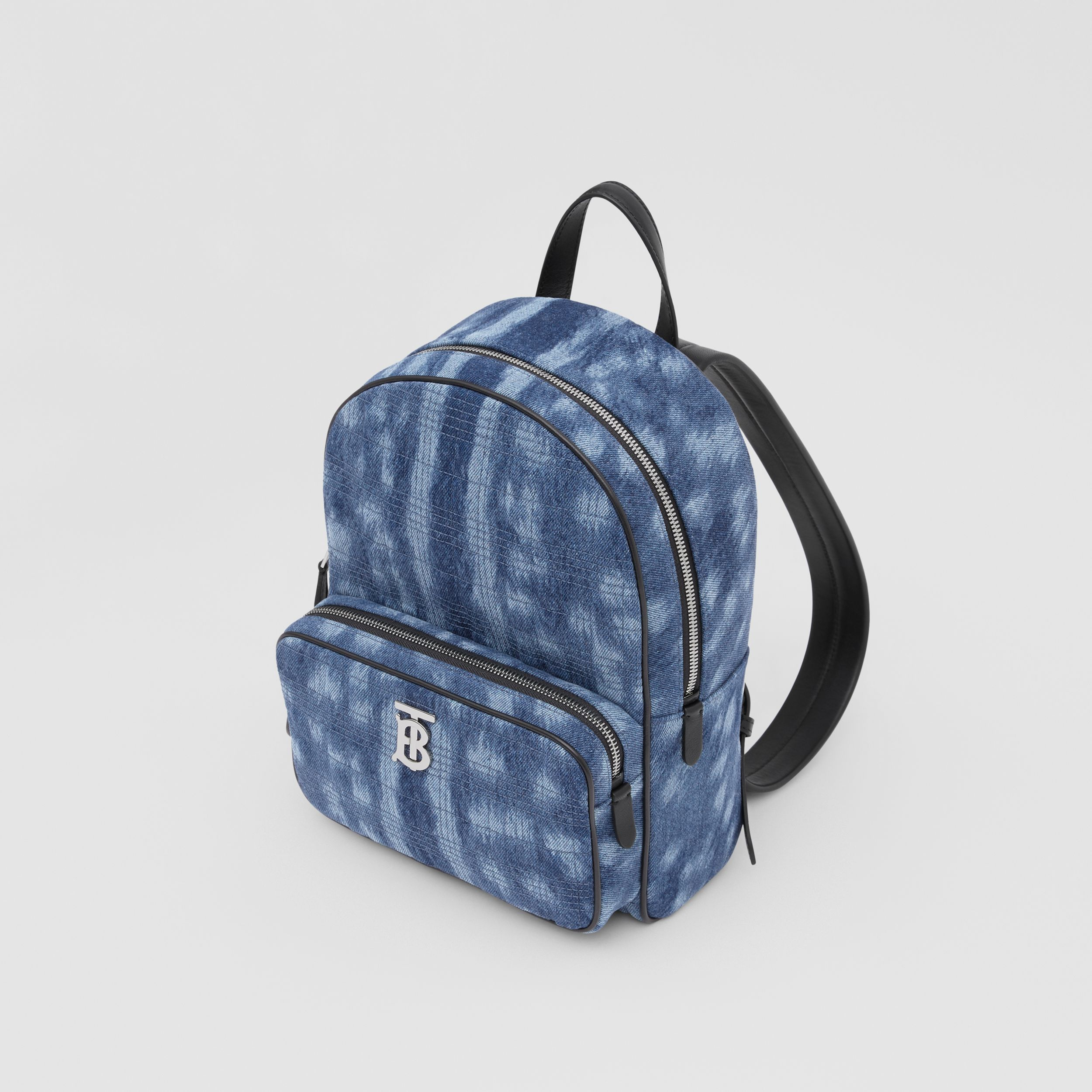 Quilted Deer Print Denim Backpack in Blue - Women | Burberry - 3