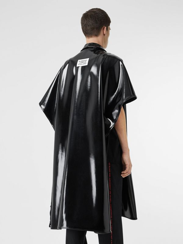 Vinyl Belted Cape in Black | Burberry - cell image 2