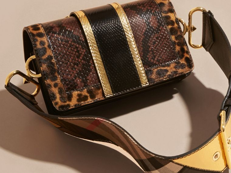 Black/gold The Patchwork in Snakeskin and Textured Leather - cell image 4