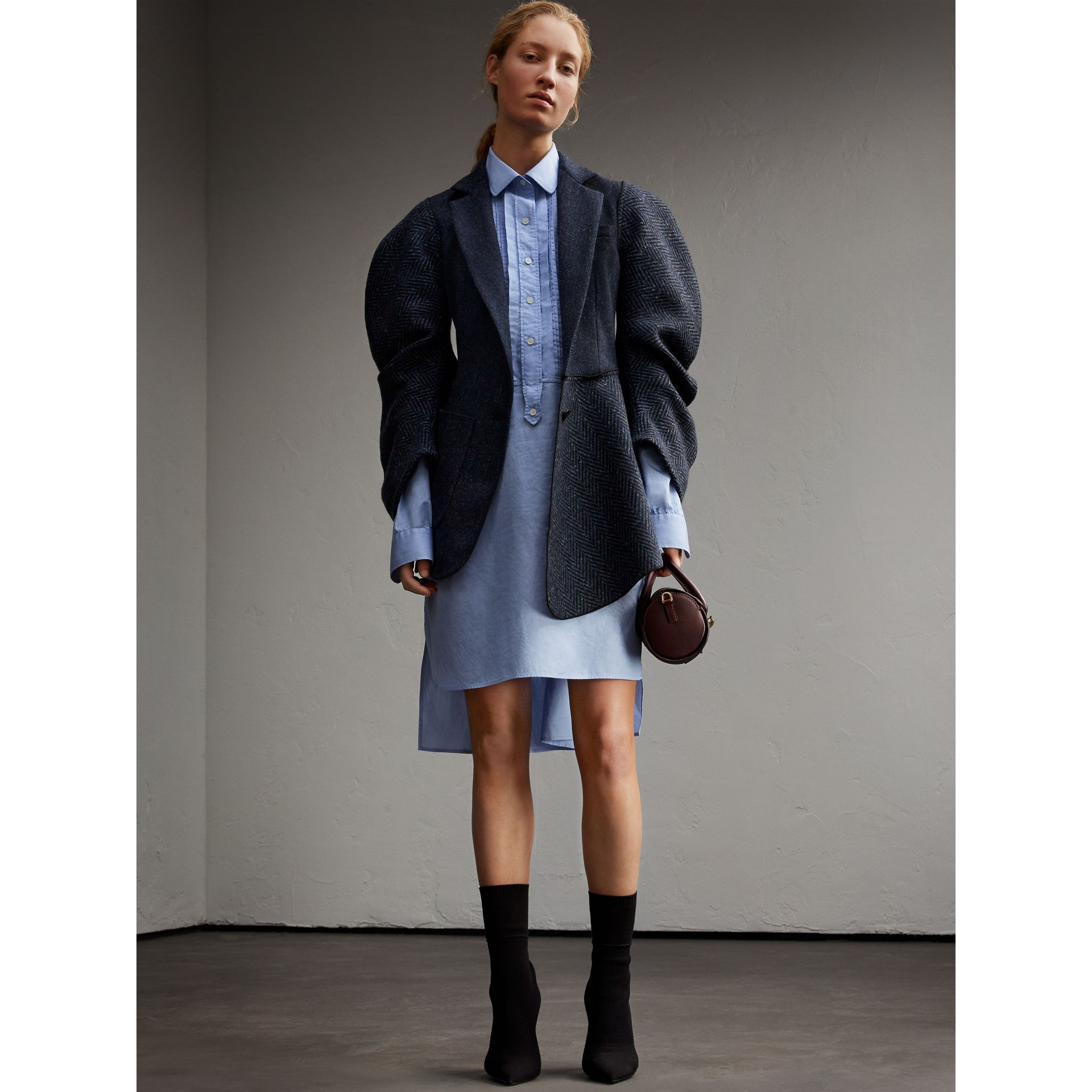 Cotton Chambray Tunic Shirt Dress - gallery image 6