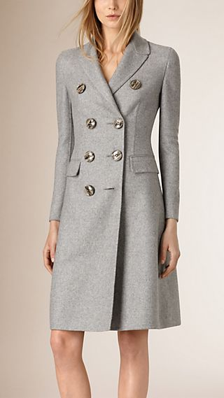 Tailored Double-Breasted Cashmere Coat
