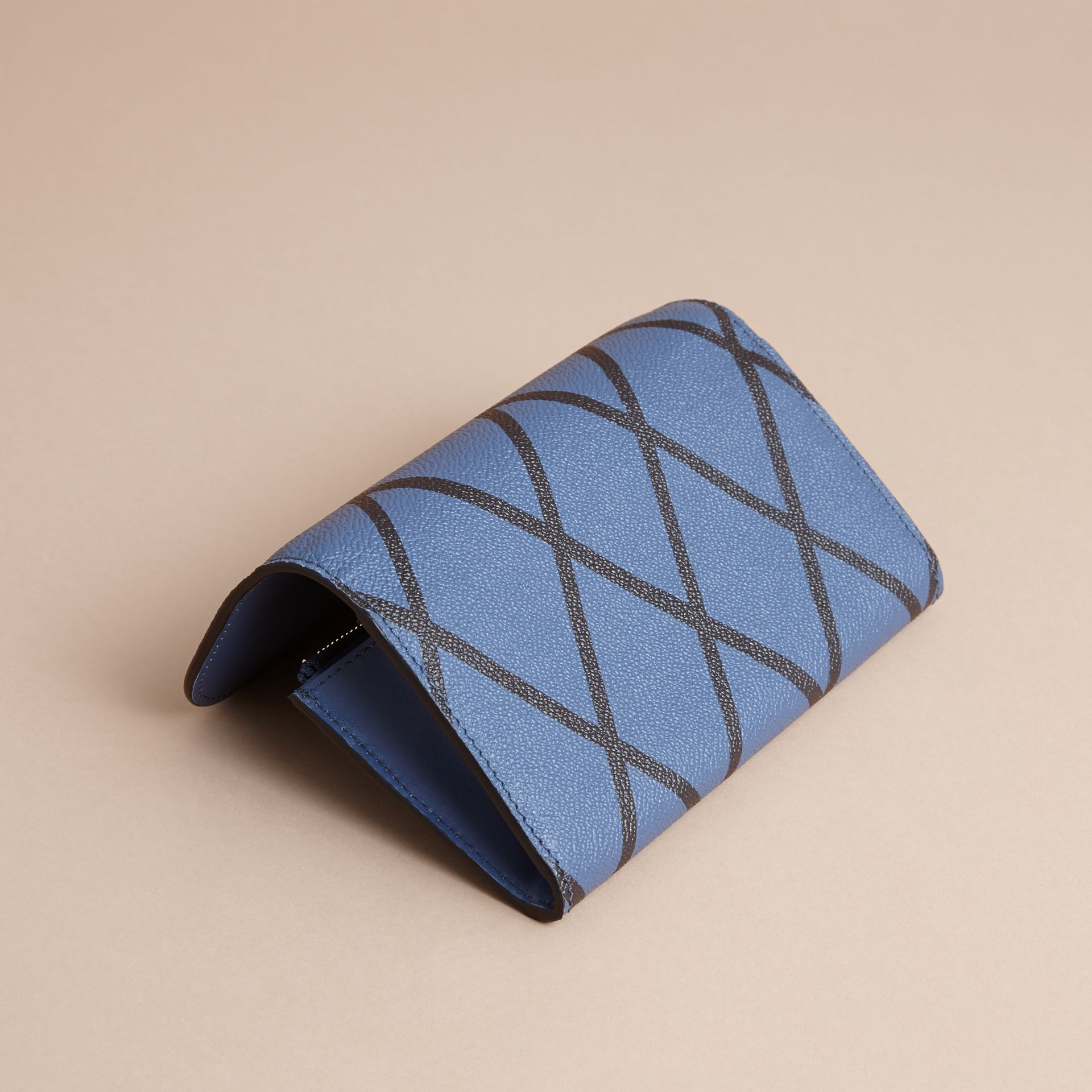 Trompe L'oeil Print Leather Continental Wallet - Women | Burberry - gallery image 3