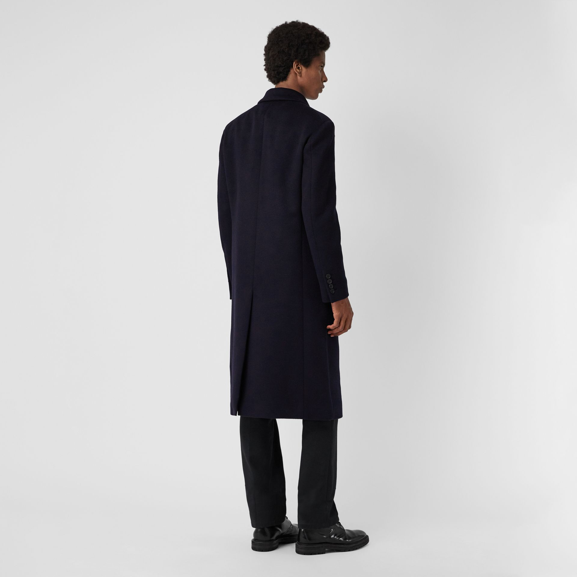 Double-faced Cashmere Tailored Coat in Navy - Men | Burberry Singapore - gallery image 2