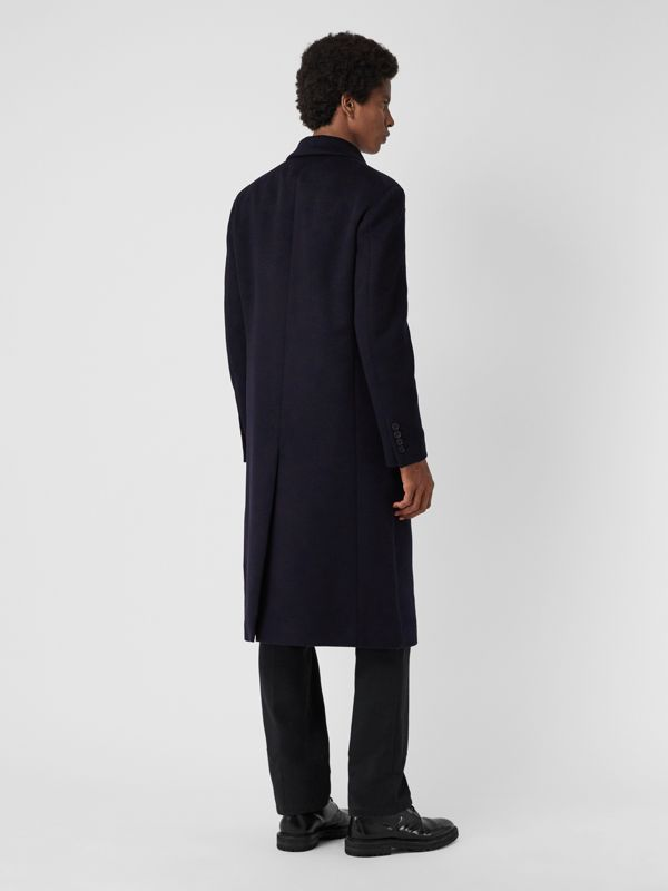 Double-faced Cashmere Tailored Coat in Navy - Men | Burberry Singapore - cell image 2