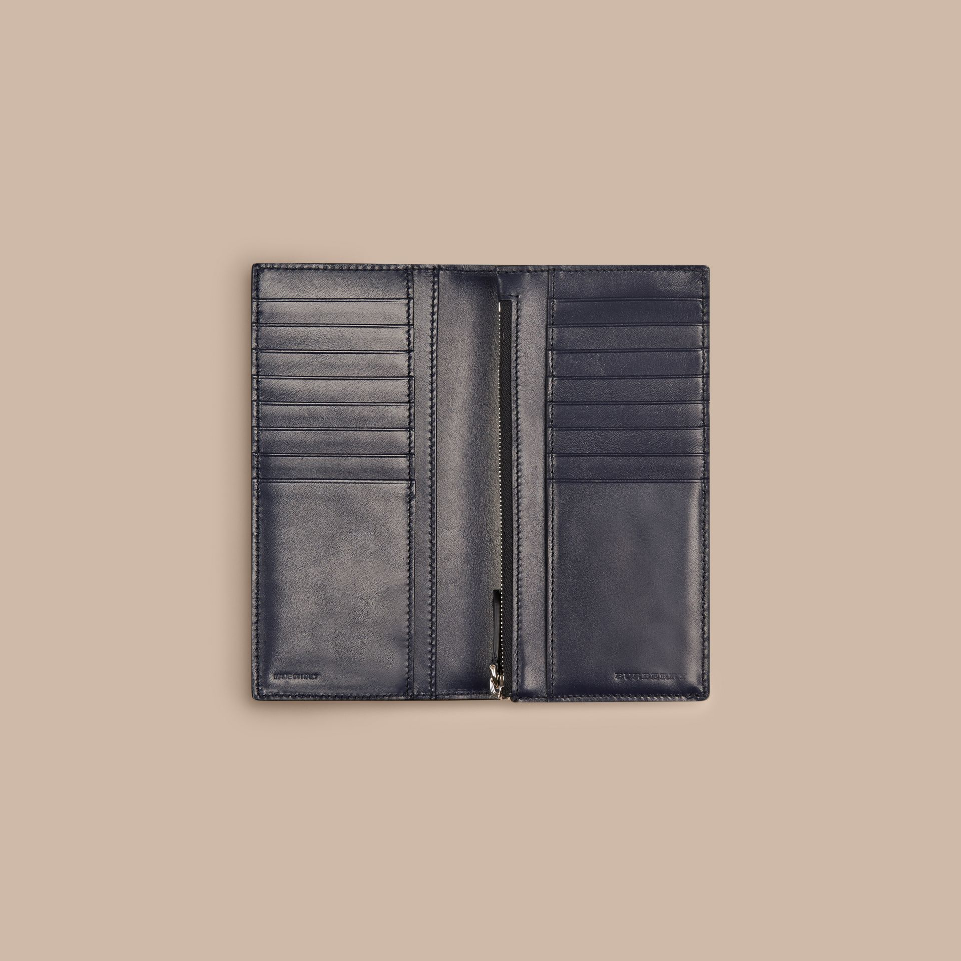 Dark navy London Leather Continental Wallet Dark Navy - gallery image 5