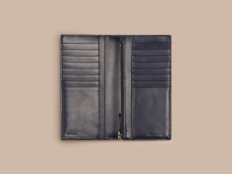 Dark navy London Leather Continental Wallet Dark Navy - cell image 4
