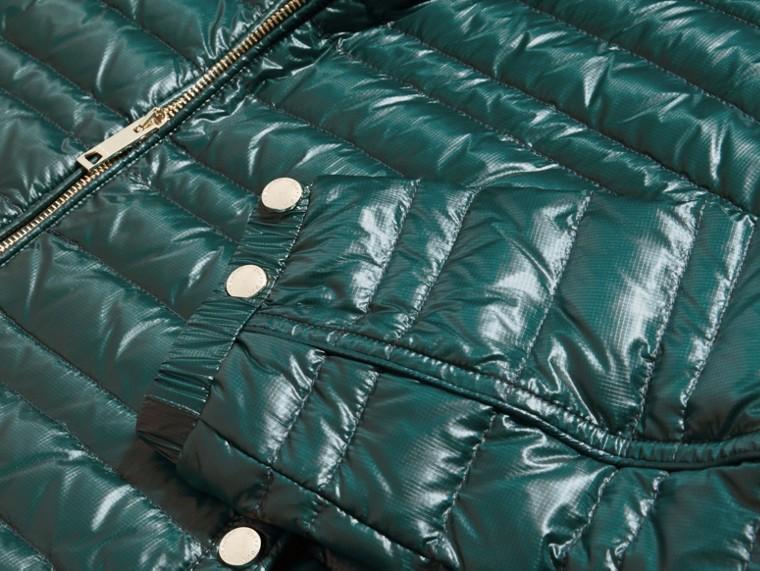 Vert pin Veste légère rembourrée en duvet Vert Pin - cell image 1