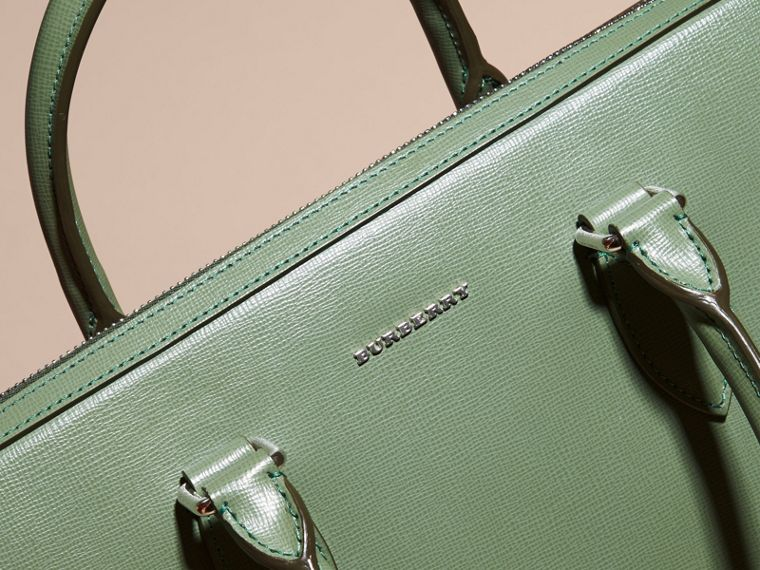 The Slim Barrow in London Leather in Antique Green - Men | Burberry - cell image 1