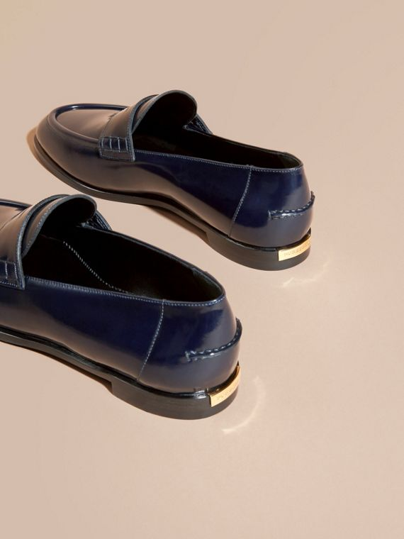 Ink blue Polished Leather Loafers Ink Blue - cell image 3