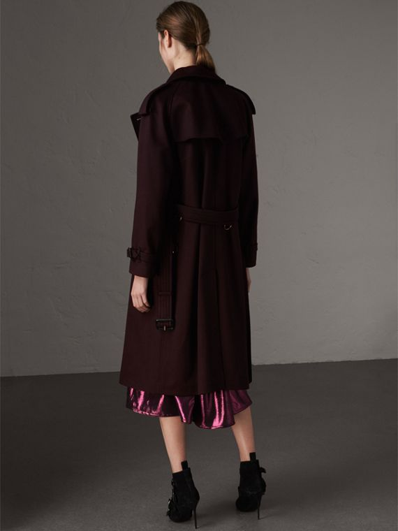 Cashmere Trench Coat in Blackcurrant - Women | Burberry Hong Kong - cell image 2