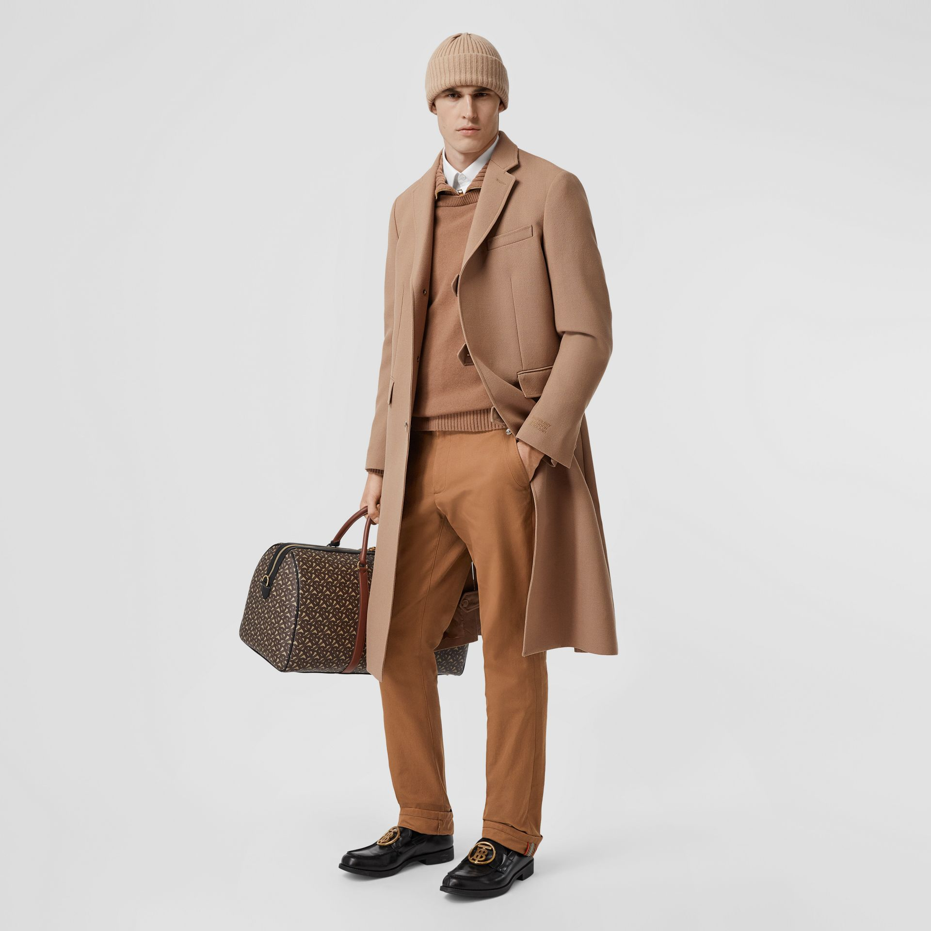 Classic Fit Cotton Chinos in Warm Walnut - Men | Burberry - gallery image 0