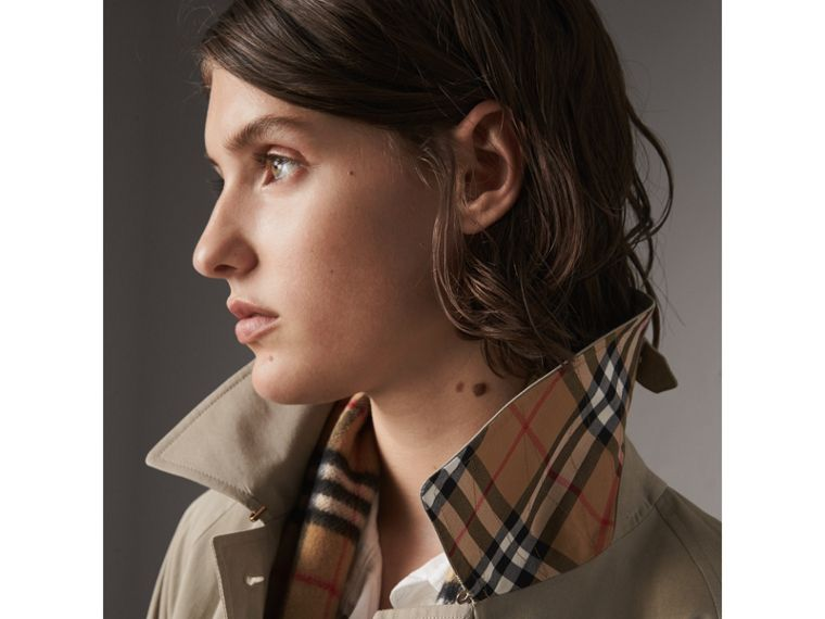 The Camden – Long Car Coat in Sandstone - Women | Burberry - cell image 1