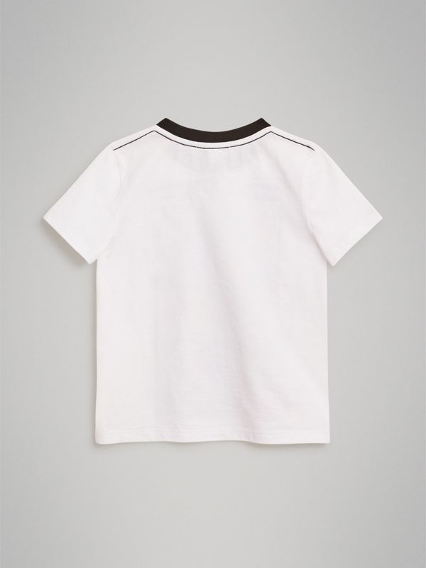 Thomas Bear Comic Print Cotton T-shirt in White | Burberry - cell image 3