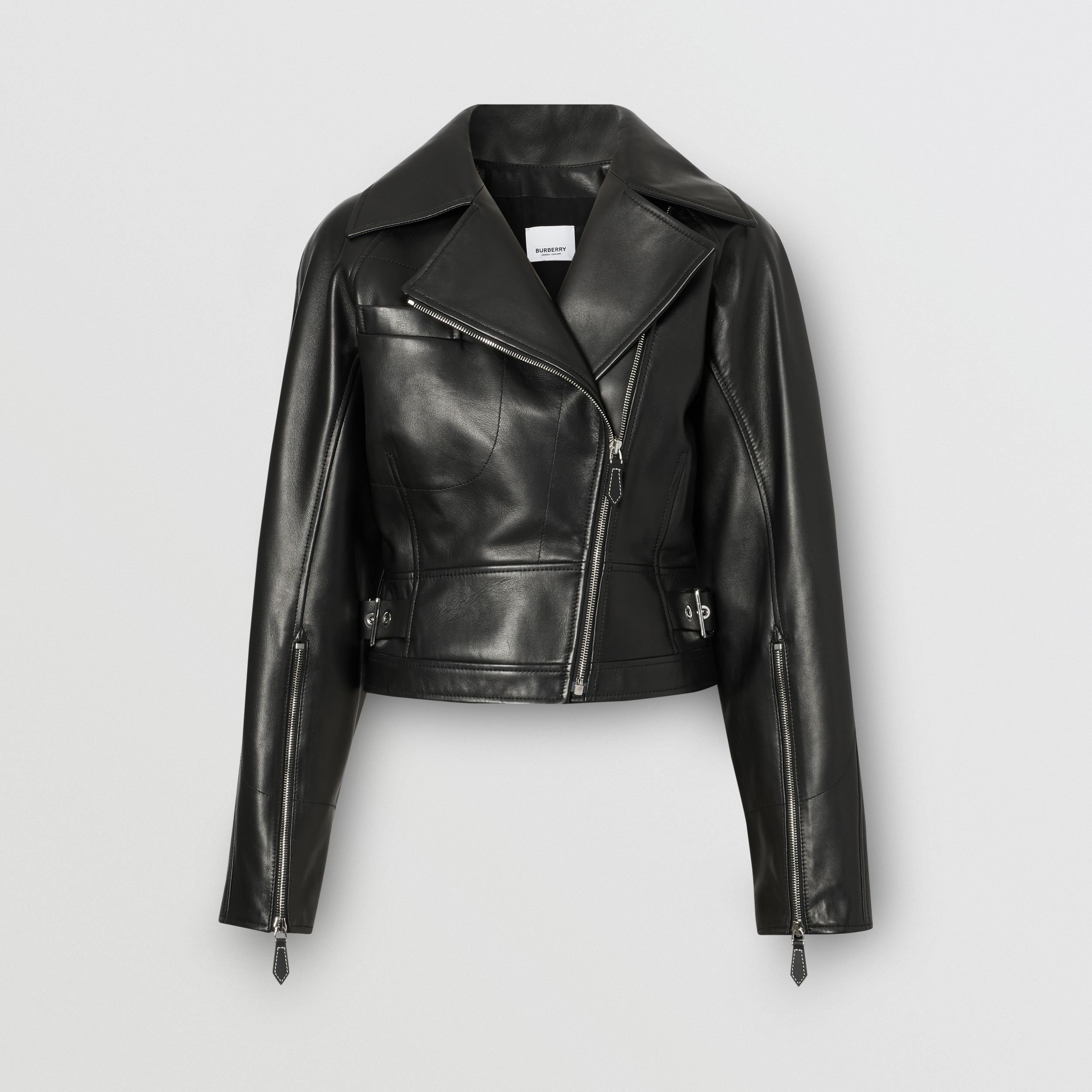 Lambskin Biker Jacket - Women | Burberry - 4