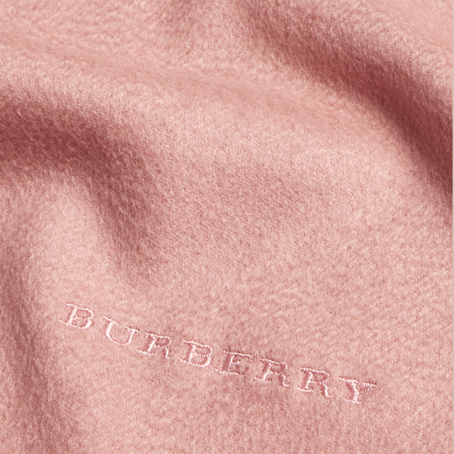 The Mini Classic Cashmere Scarf in Ash Rose - Girl | Burberry - gallery image 4