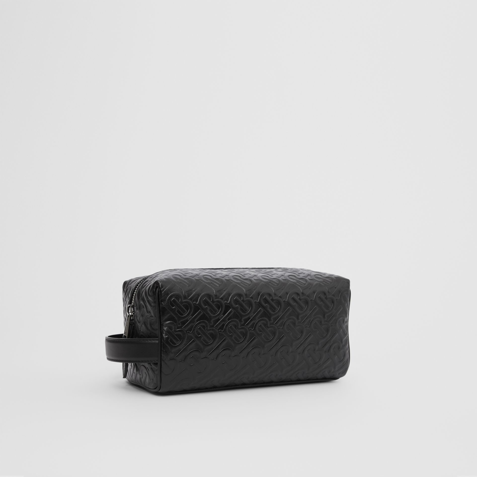 Monogram Leather Travel Pouch in Black - Men | Burberry United Kingdom - gallery image 6